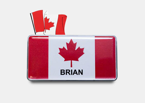 "Canada Patriotic Flag Collection, 1.0"" X 3.0"", 10 or 20 pcs"