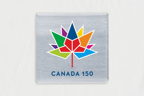 "20-Pack Square Silver 1.62"" x 1.62"" Lapel Pins, with Canada 150 Logo"