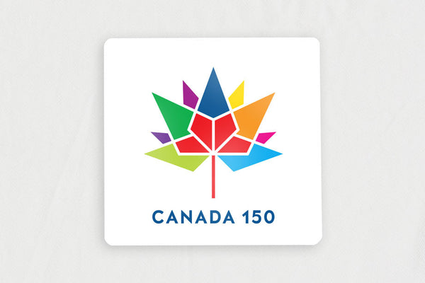 "20-Pack Square White 1.62"" x 1.62"" Lapel Pins, with Canada 150 Logo"