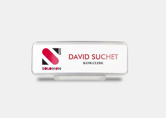 "Rectangle Contemporary Name Badge 1"" x 3"" 20 pcs"
