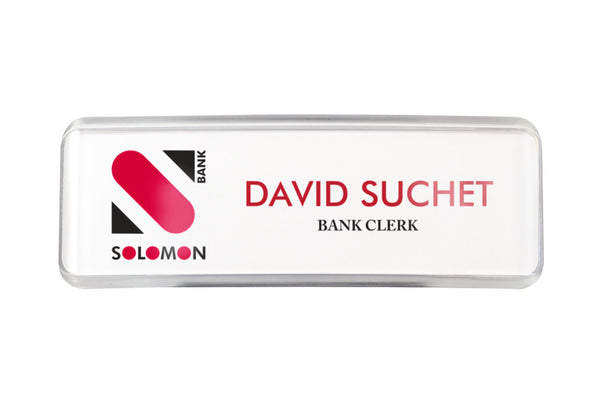 "20PCS RECTANGLE 1"" X 3"" CONTEMPORARY NAME BADGE-SIGNAGE KIT"