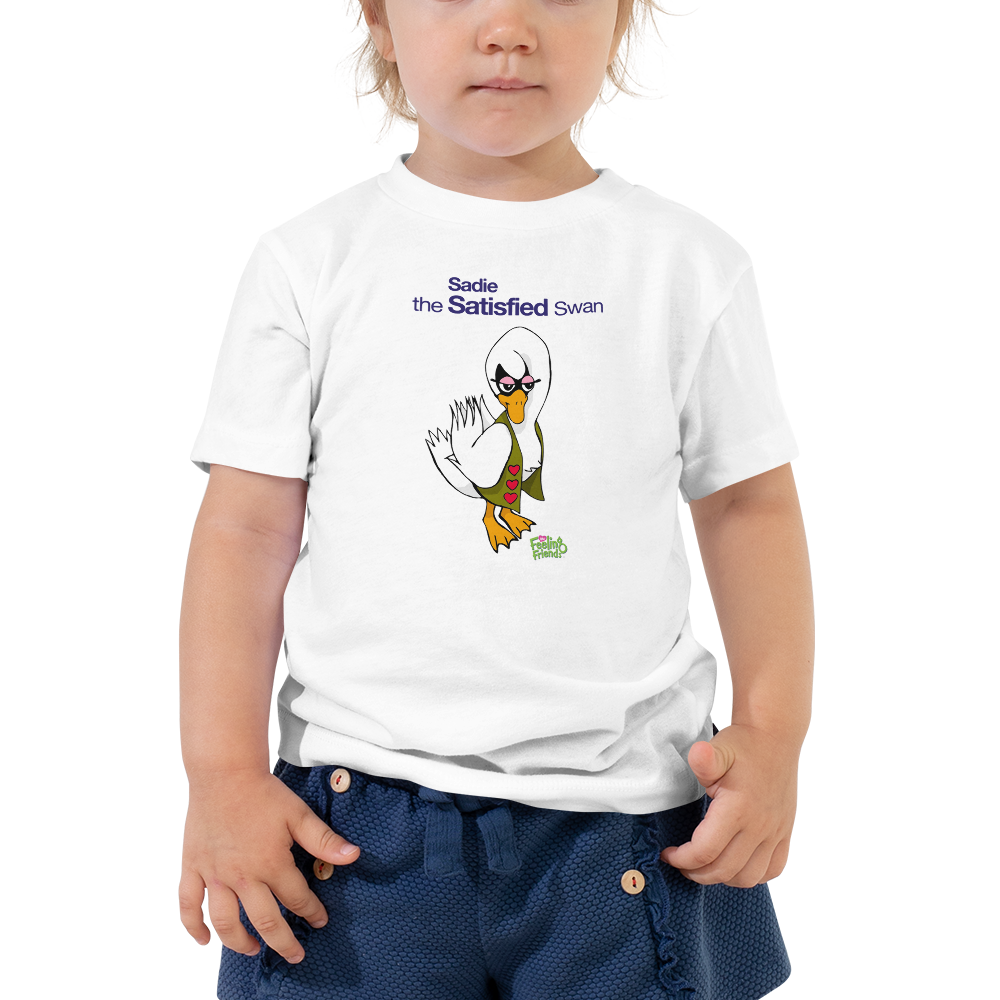 Sadie The Satisfied Swan™ Toddler T-Shirt