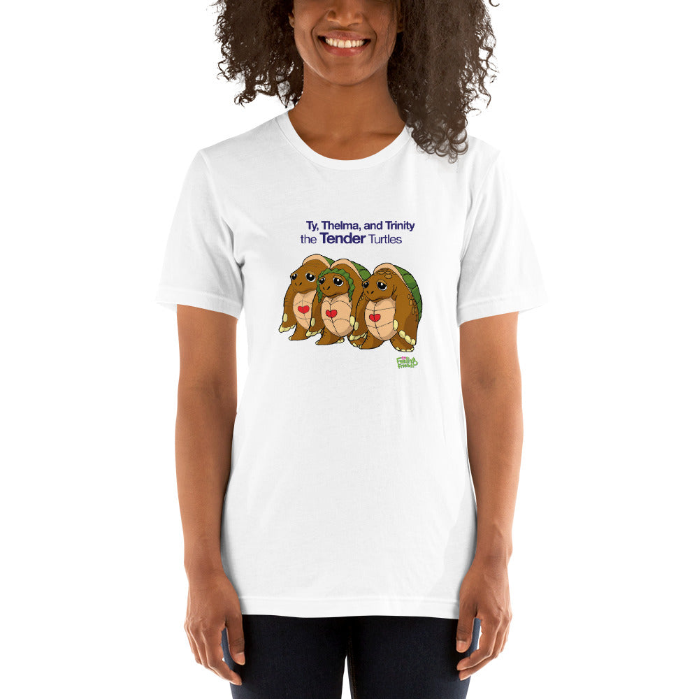 Ty, Thelma, and Trinity the Tenderness Turtle Trio™ Womens T-Shirt