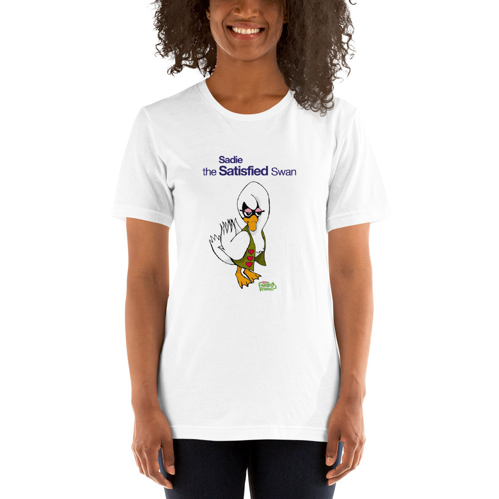Sadie The Satisfied Swan™ Womens T-Shirt