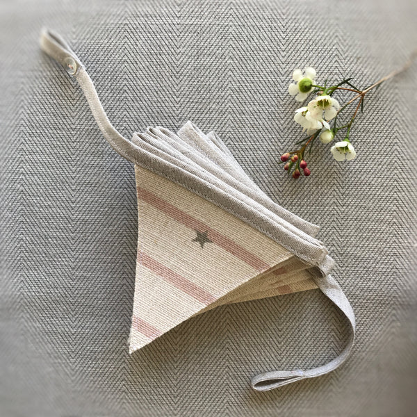 Peony & Sage Mini Bunting in Stars & Stripes