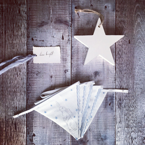 Peony & Sage Rabbit All Star Bunting  in blue