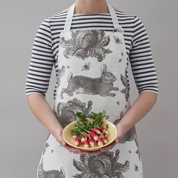 Grey Rabbit & Cabbage Apron by Thornback & Peel