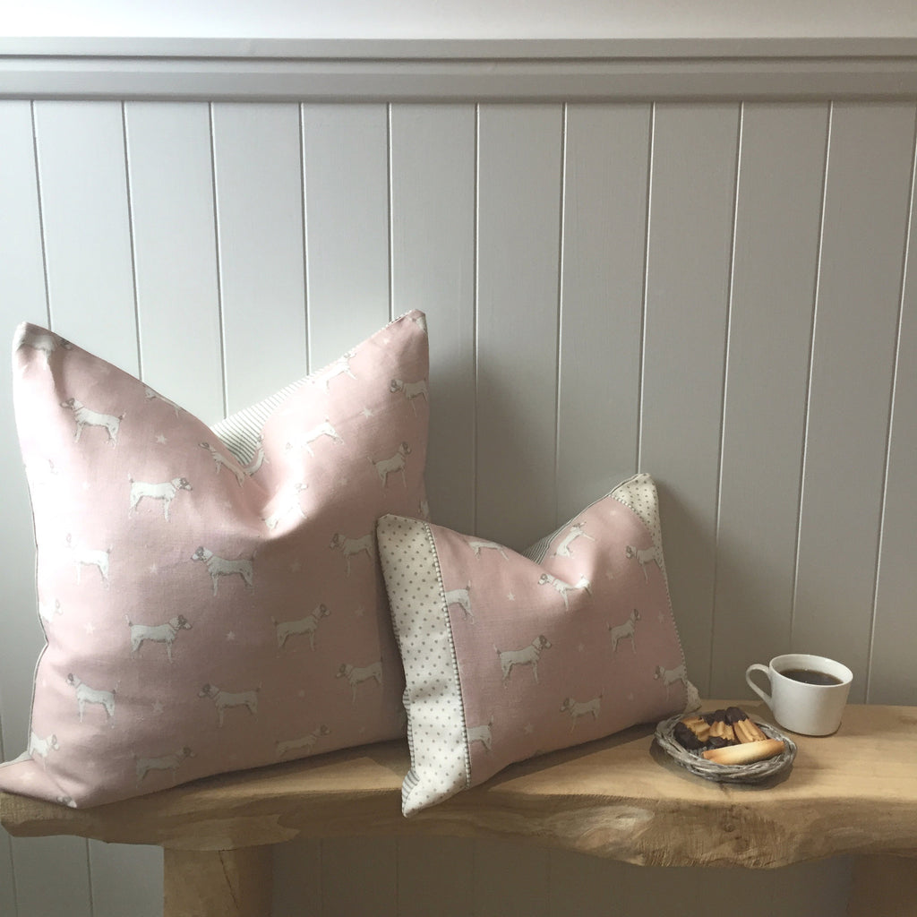 FLOOR CUSHIONS in Peony & Sage Jack All Star Fabric