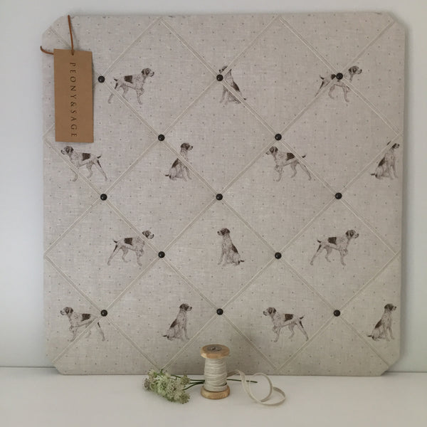 French Memoboard in Peony & Sage Point II Point