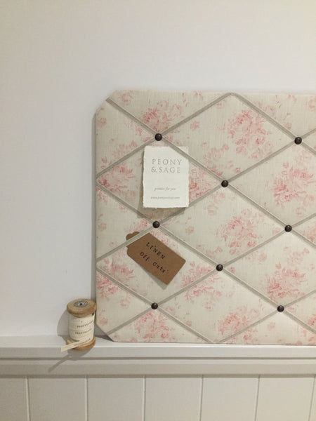 "French Memoboard in Peony & Sage ""Millie"""
