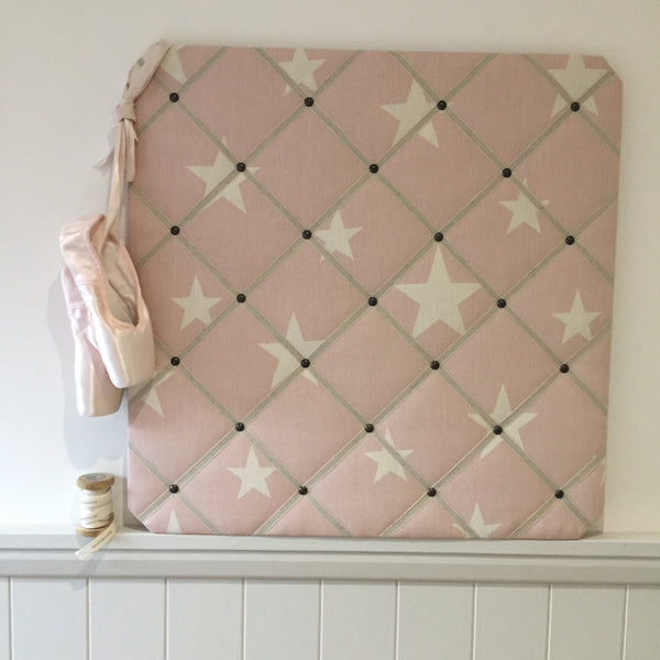 "French Memoboard in Peony & Sage ""Large All Star"""