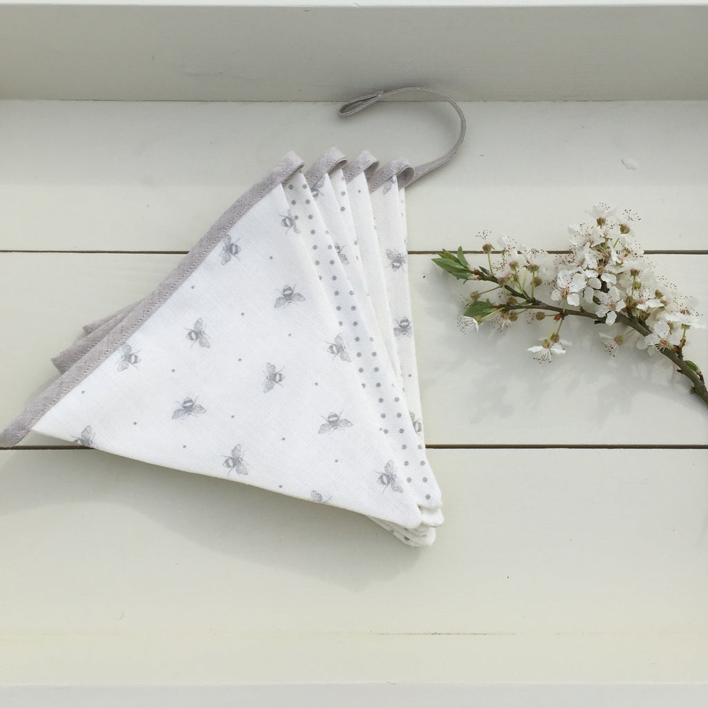 Peony & Sage, Tiny Busy Bee and Grey Dot Bunting