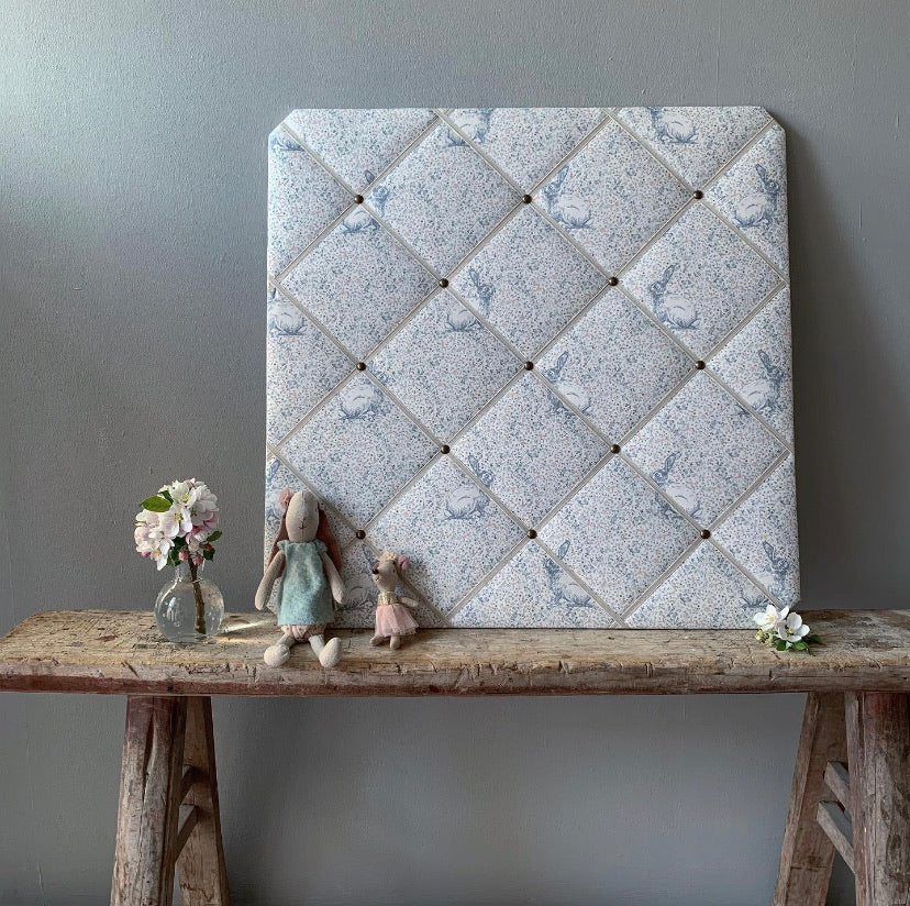 French Memoboard in Peony & Sage Delilahs Rabbit