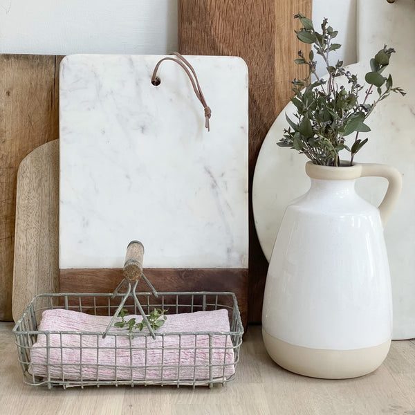 Marble and Wood Chopping Boards