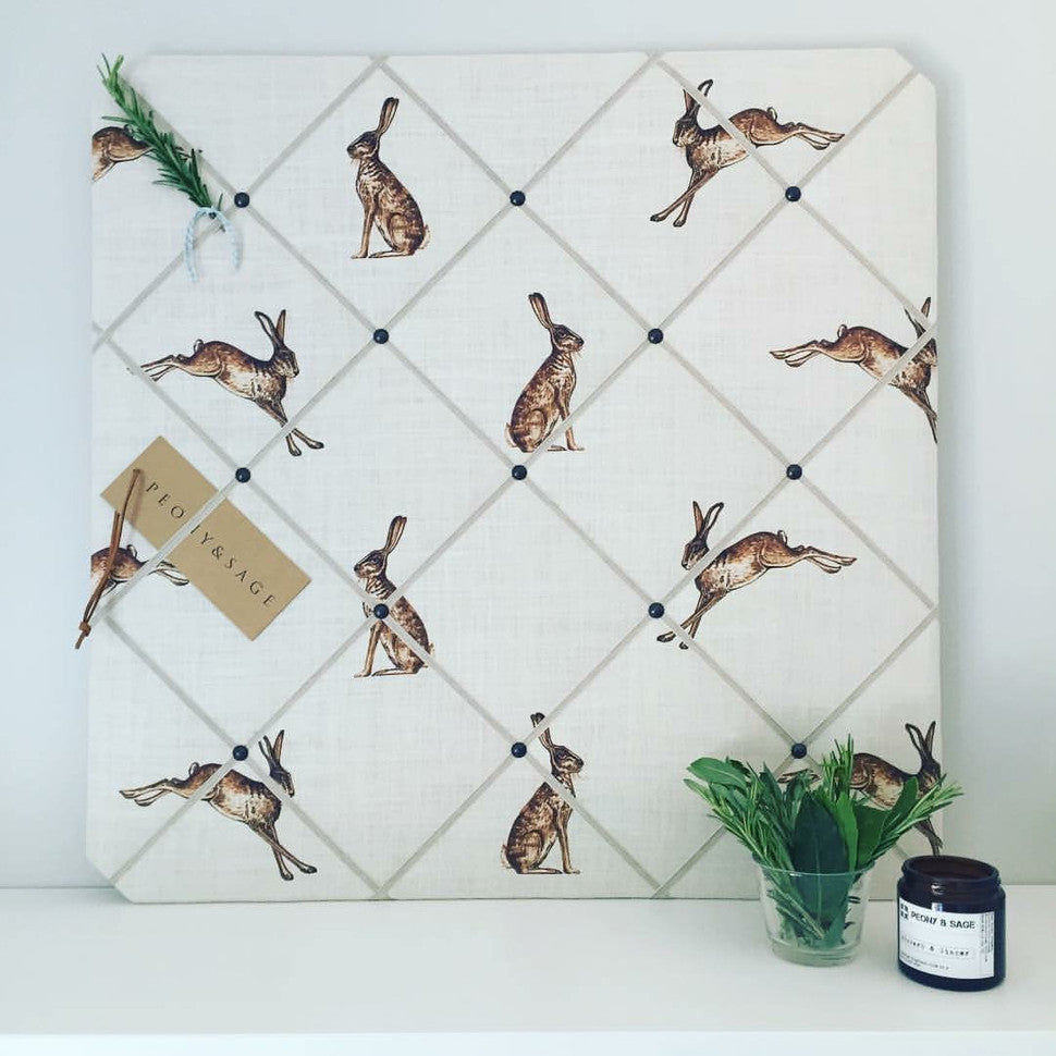 Peony & Sage Leaping Hare French Memoboard