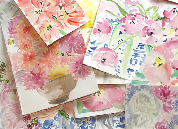 Original Floral Watercolors Now Available