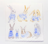 Blue Stripe Bunnies 2019 No. 2