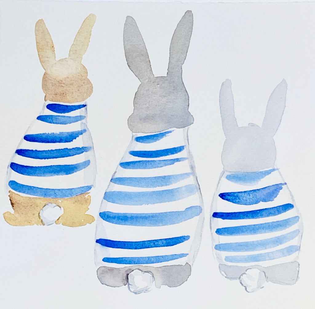 Blue Stripe Bunnies 2019 No. 3