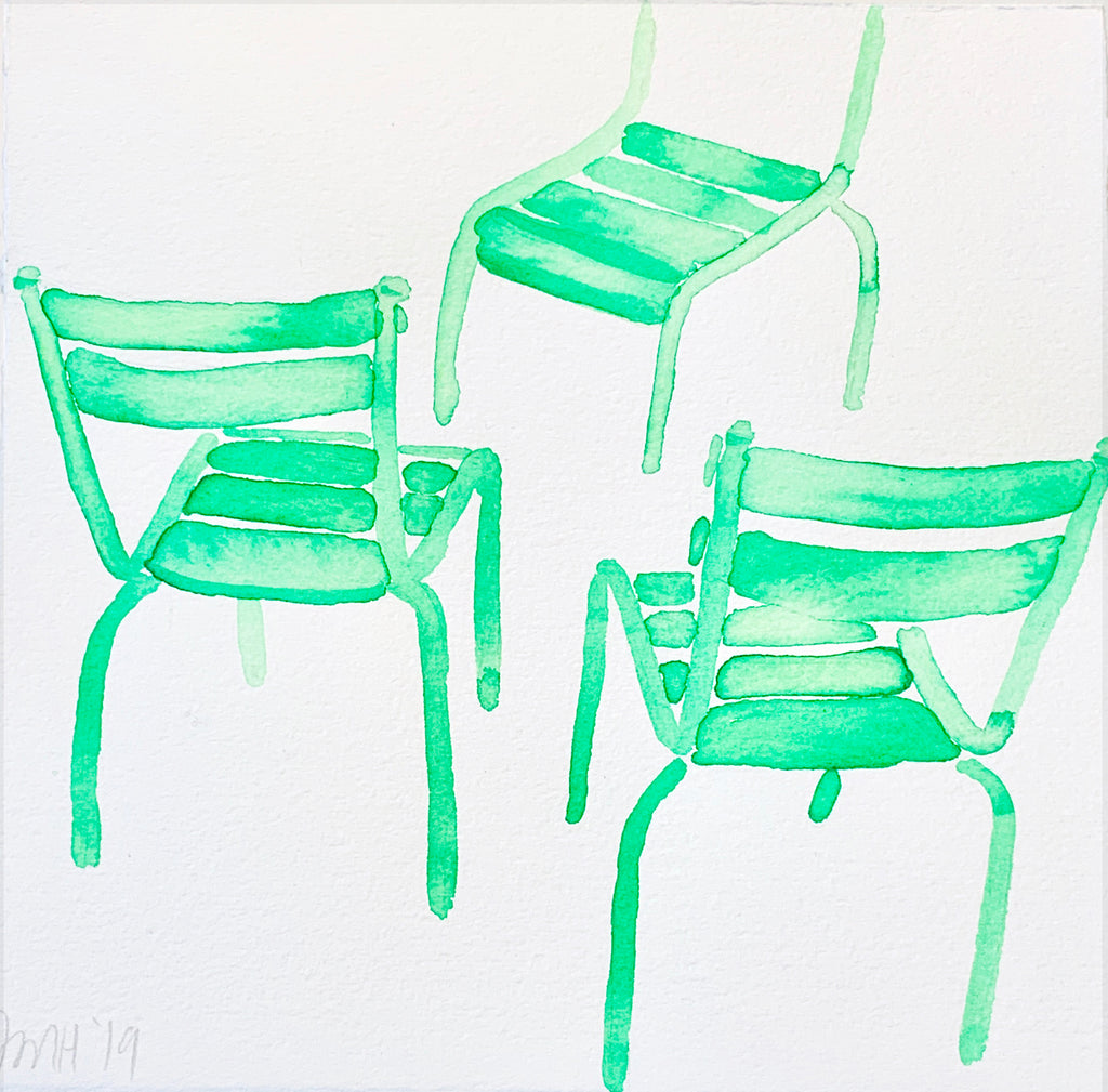 In the Tuileries, Green Chairs