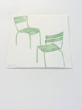 Jardin du Luxembourg Green Chairs