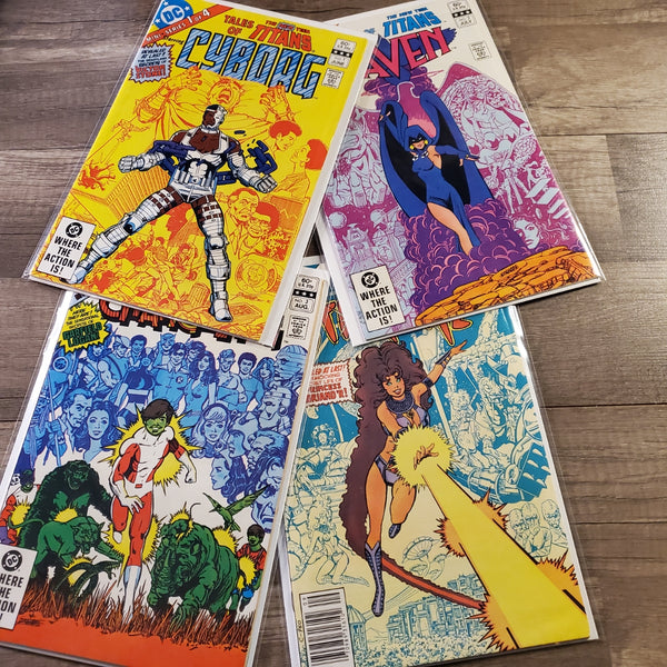 Tales of The New Teen Titans #1 - #4 Set