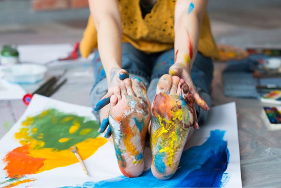 Painting with Your Feet: A New Trend You Have to Try!