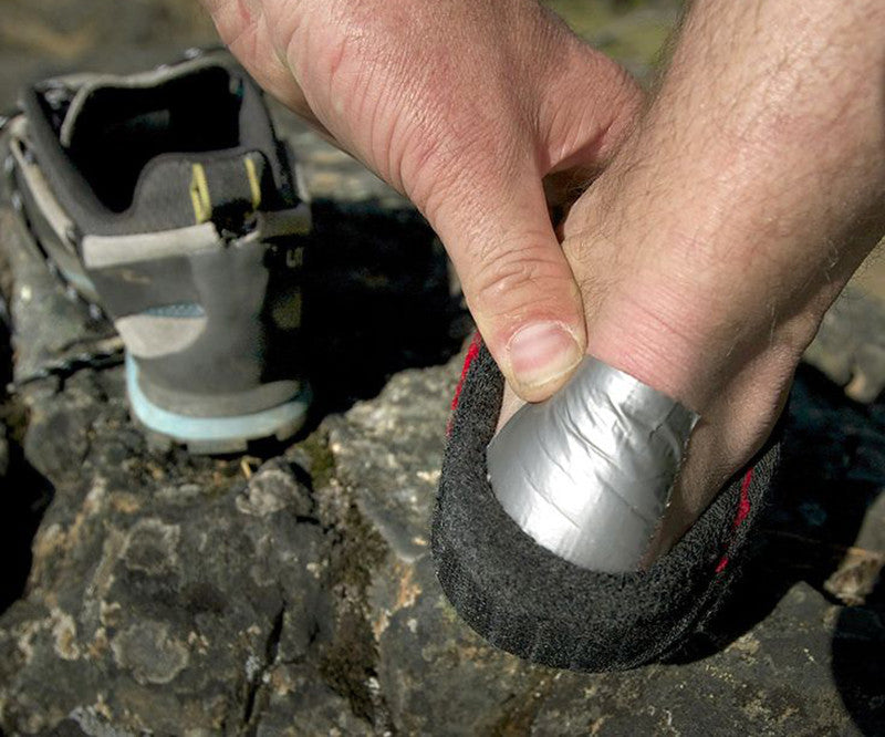 Stop shoes from hurting back of ankles with duct tape