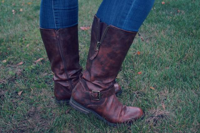 brown calf boots