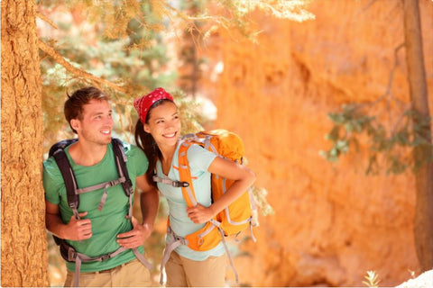 young hiking couple
