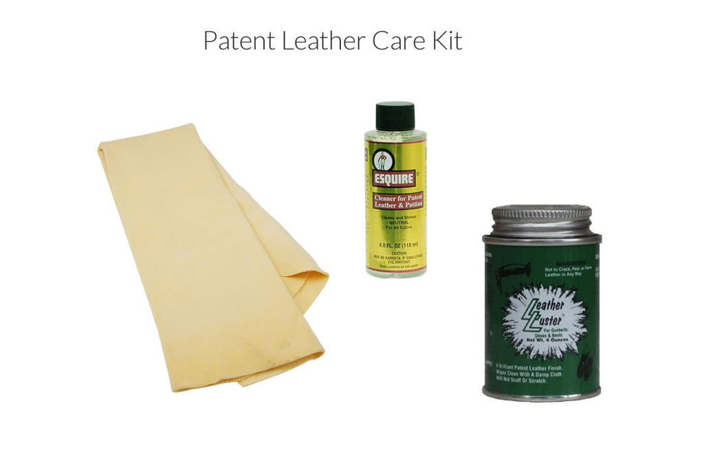 Patent leather care kit