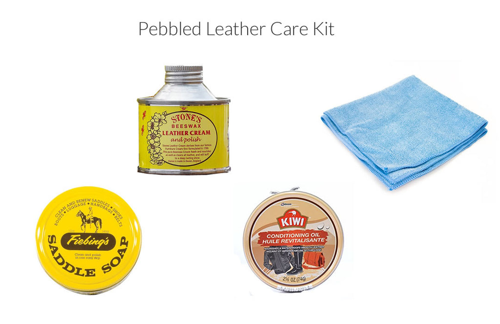 pebbled leather care kit