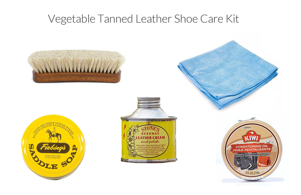 veg tanned leather care kit