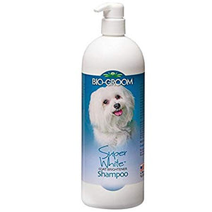 BioGroom Super White Coat Brightener Shampoo for Dogs and Cats Paraben and Dye Free by Bio-groom