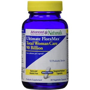 Advanced Naturals Ultimate Floramax Total Woman Care 90 Billion Caps, 30 Count by Advance Naturals