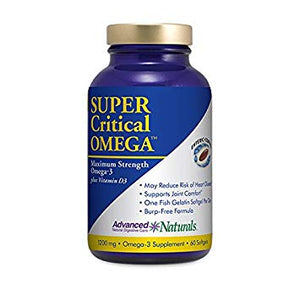 Advanced Naturals Super Critical Omega, Maximum Strength Omega-3 with Vitamin D3, 60 Count by Advanced Naturals