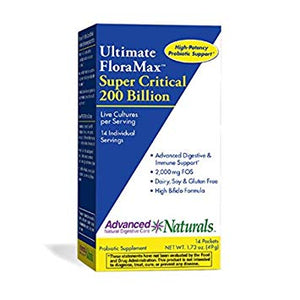 Advanced Naturals Ultimate FloraMax Super Critical 200 Billion 14 Packets by Advanced Naturals