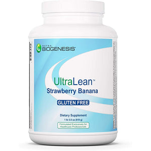 Nutra BioGenesis - UltraLean Strawberry Banana - Gluten Free Food Supplement Shake, Powdered Nutritional Beverage, Whey Based Nutrition - 1 Lb 5.8 oz*