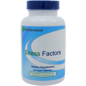 Nutra BioGenesis Stress Factors - 120 Caps - Vitamin B6, Lithium and GABA to Help Support Stress Response and Mental Health - 60 Capsules*
