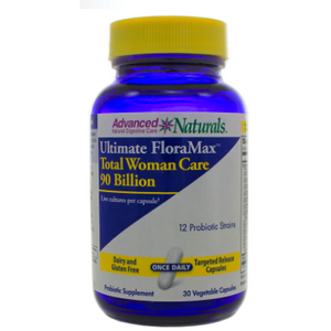 Advanced Naturals Ultimate FloraMax Total Woman Care 90 Billion 30 Vegetarian Capsules by Advanced Naturals