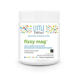 DaVinci Labs  Fizzy Mag Effervescent Magnesium Powder Lemon Lime 75 Servings