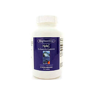 Allergy Research Group N-Acetyl-L-Cysteine, 500mg - 120 Tablets by Allergy Research Group
