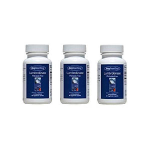 Lumbrokinase 60 Capsules (3 PACK), by Allergy Research Group