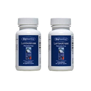 Allergy Research Group - Lumbrokinase 60 Cap - Cardiovascular Support (2 PACK) by Allergy Research Group