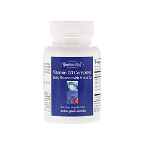 Vitamin D3 Complete 120 Fish Gelatin Capsules by Allergy Research Group