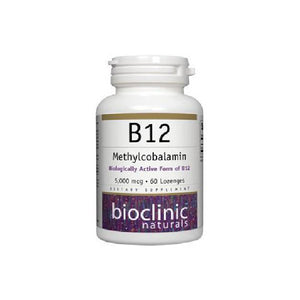 Bioclinic Naturals B12 Methylcobalamin 5000 mcg 60 Loz - Pack of 2 by Bioclinic Naturals
