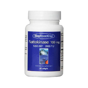 Nattokinase 100 Mg Super Extra Strength - NSK-SD - 2000 FU - 60 Softgels  BY Allergy research group