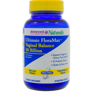 Ultimate FloraMax Vaginal Balance 50 Billion 30 Vegetarian Capsules by Advanced Naturals