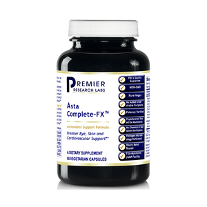 Asta Complete-FX TM, 60 Capsules, Vegan Product - Potent Antioxidant Formula with Algae-Based Astaxanthin for Premier Eye, Skin and Cardiovascular Support by Premier Research Labs
