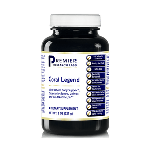 Coral Legend, 16oz Powder - 100% Coral Mineral Powder; Ideal Whole Body Support, Especially for the Bones, Joints, Teeth and an Alkaline pH by Premier Research Labs