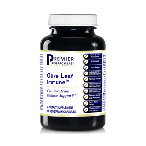 Olive Leaf Immune TM, 240 Caps/4 Bottles, Vegan - Premier Research/Quantum Labs Olive Leaf Extract Formula for Full Spectrum Immune by Premier Research Labs